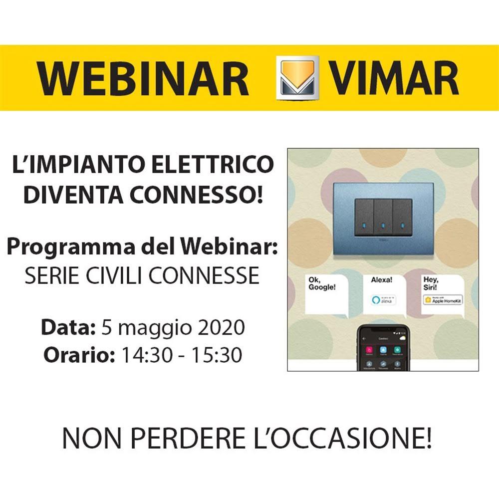 Webinar Vimar - Limpianto elettrico diventa connesso