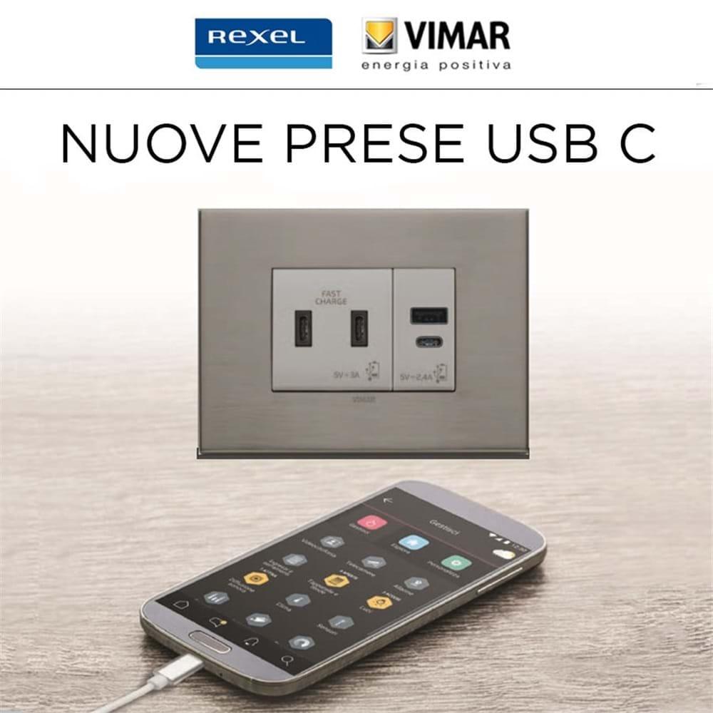 Nuove prese Vimar USB C