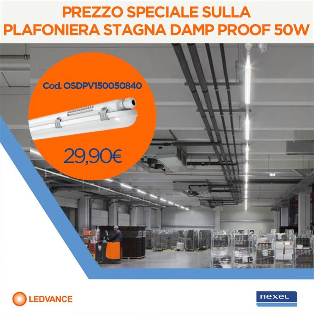 Plafoniera stagna Ledvance 50W a €29,90!
