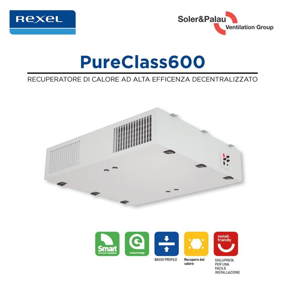 Nuovo PureClass 600 Soler&Palau per la Purificazione degli Ambienti