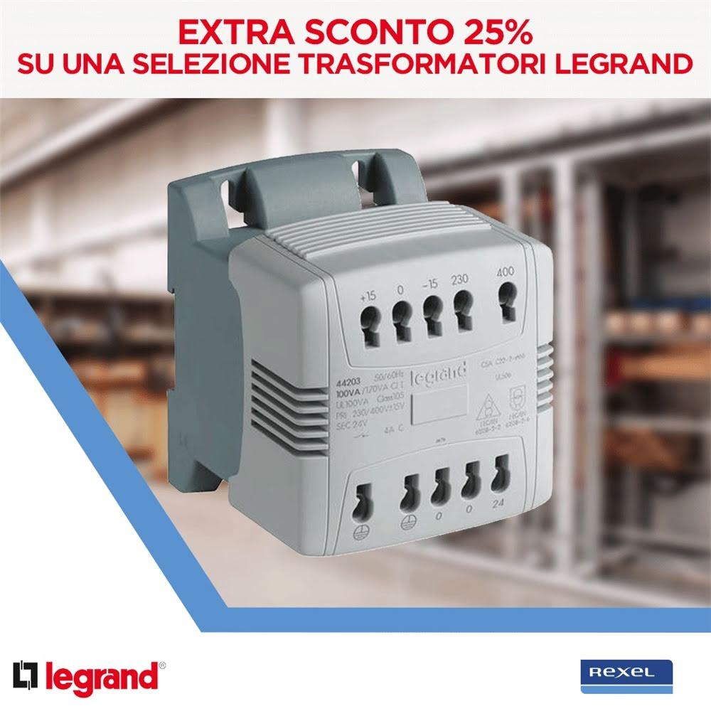 25% di sconto sui Trasformatori Legrand-Bticino!