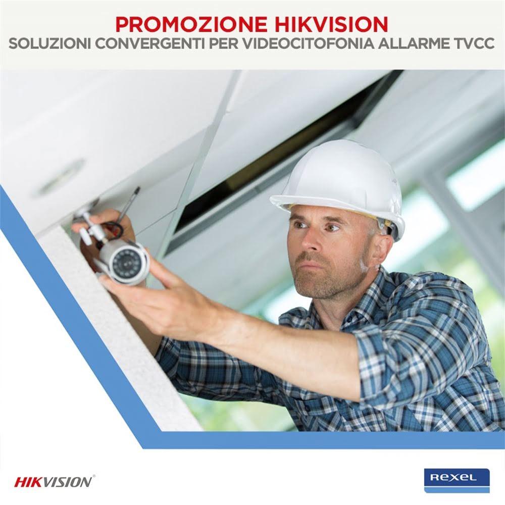 Promozione Hikvision - Soluzioni convergenti per videocitofonia allarme tvcc