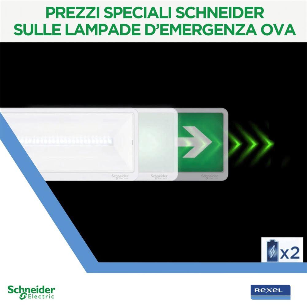 Prezzi Speciali sulle lampade demergenza Ova Schneider Electric