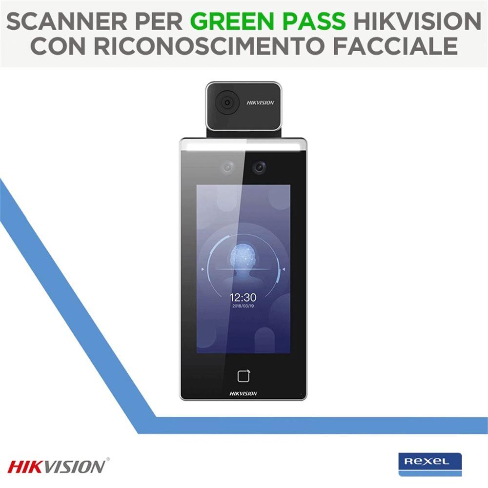 Lettore Green Pass Hikvision con riconoscimento facciale