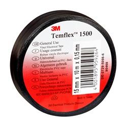 Nastro elettrico in PVC 3M™ Temflex™ 1500 Nero - Misure 15mm x 10m