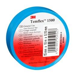 Nastro elettrico in vinile Temflex™ di 3M™ 1500, blu, 15 mm x 25 m