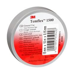 Temflex 1500 - Grigio  Nastro elettrico in PVC - Misure 15 x 25 x 0,15