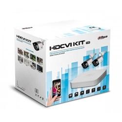 KIT Videosorveglianza HDCVI DVR 4 Canali 4K 2 Telecamere Infrarossi