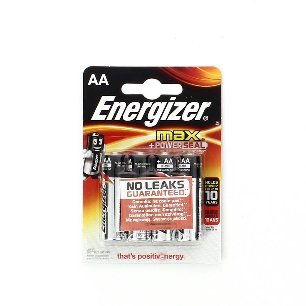 Pila Energizer AA Stilo 1,5V MAX