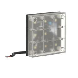 Diffusore LED Kobo 110 poliglass 3000K 8W nero