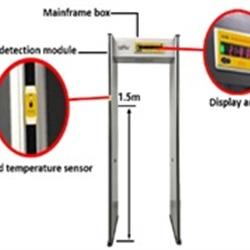 Metal Detector + Rilevatore della Temperatura Corporea