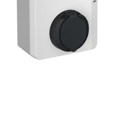 Terra AC Wallbox 22 kW con presa T2 SHUTTER RFID
