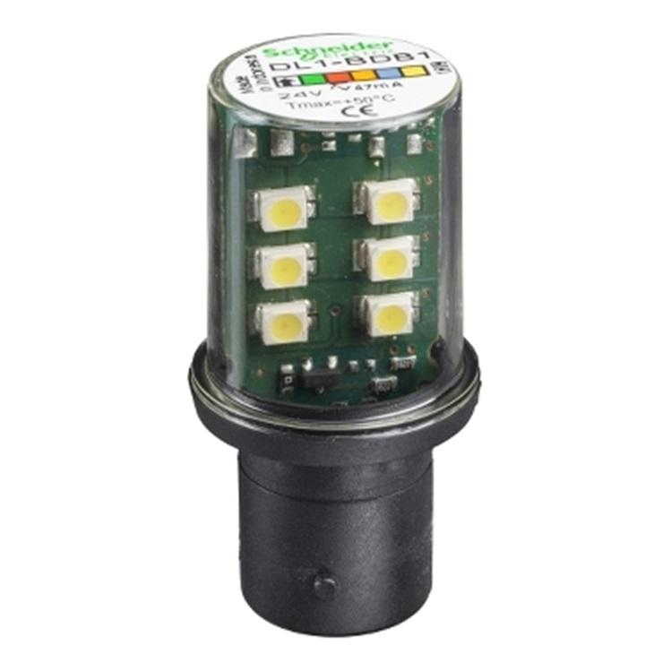 LAMPADINA LED BIANCA 24V BA15D