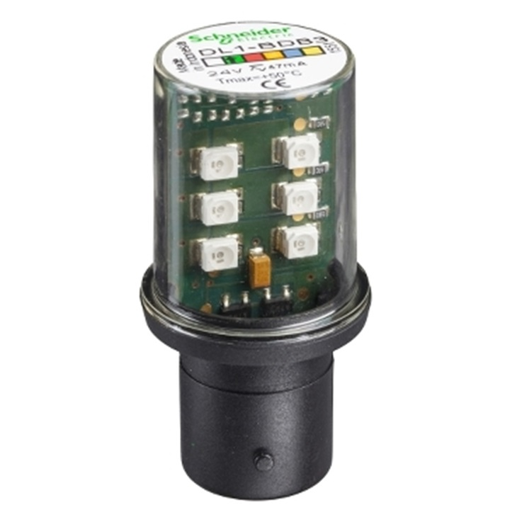 LAMPADINA LED VERDE 24V BA15D