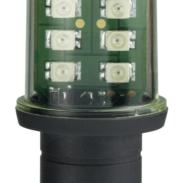 Lampadina LED Schneider rossa BA 15D 24 V