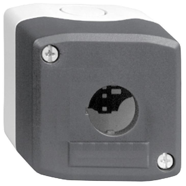 Scatola per pulsante XALD01 Schneider Electric serie Harmony XALD, 1 foro, diametro  22mm, 68 x 68 x 53 mm