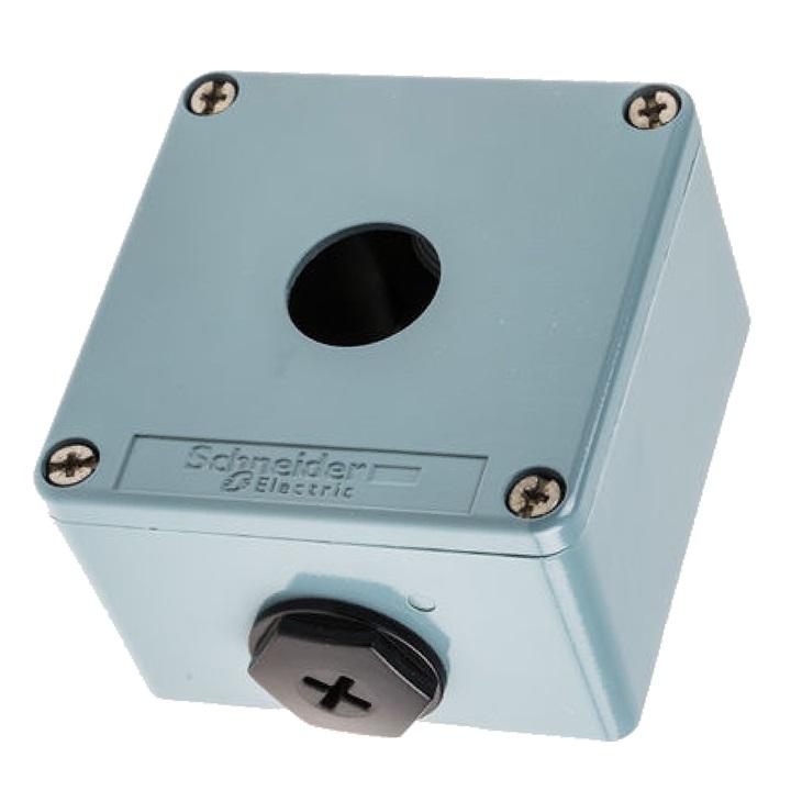 Scatola per pulsante XAPM1201 Schneider Electric serie Harmony XAP, 1 foro, diametro  22mm, IP65/IP69/IP69K