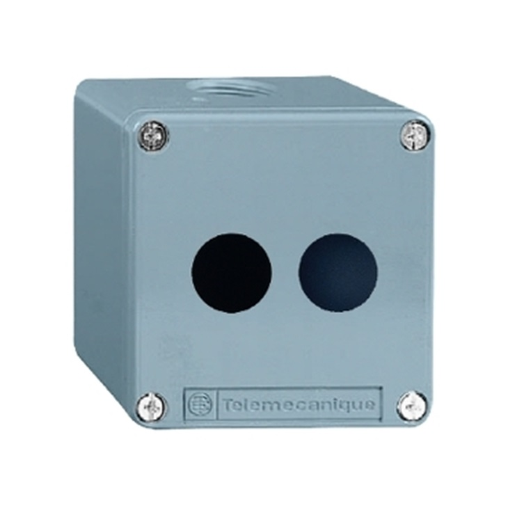 Scatola per pulsante XAPM1202 Schneider Electric serie Harmony XAP, 2 fori, diametro  22mm, IP65/IP69/IP69K