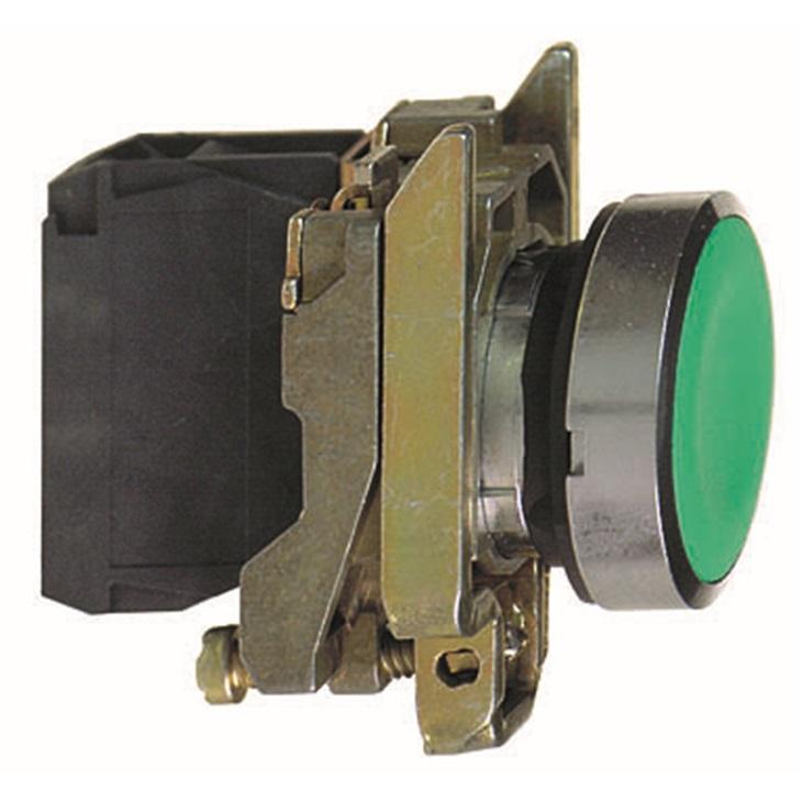 Pulsante XB4BA42, NC, 6 A c.a., 550 mA c.c., max 600V c.a., montaggio su pannello, Ritorno a molla