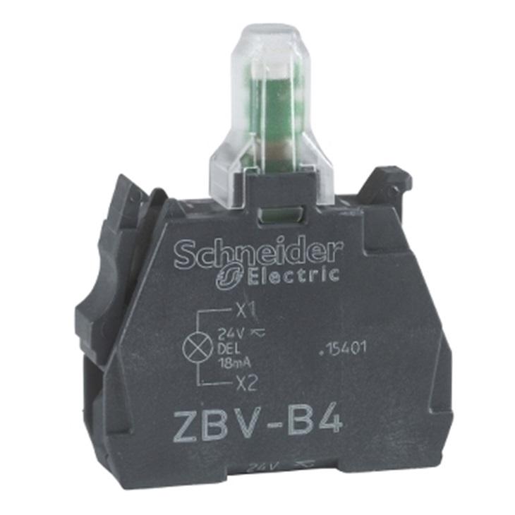 Blocco contatti luminoso Schneider Electric, 24 V, terminali a Vite, LED Bianco