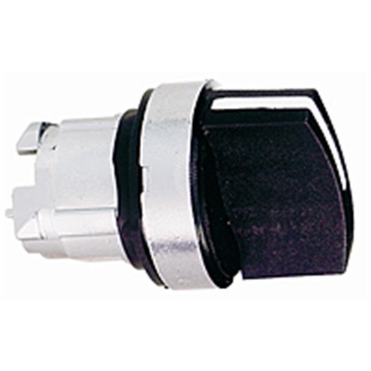 Testa selettore a chiave Schneider Electric serie Harmony XB4, 3 posizioni, impugnatura standard nera
