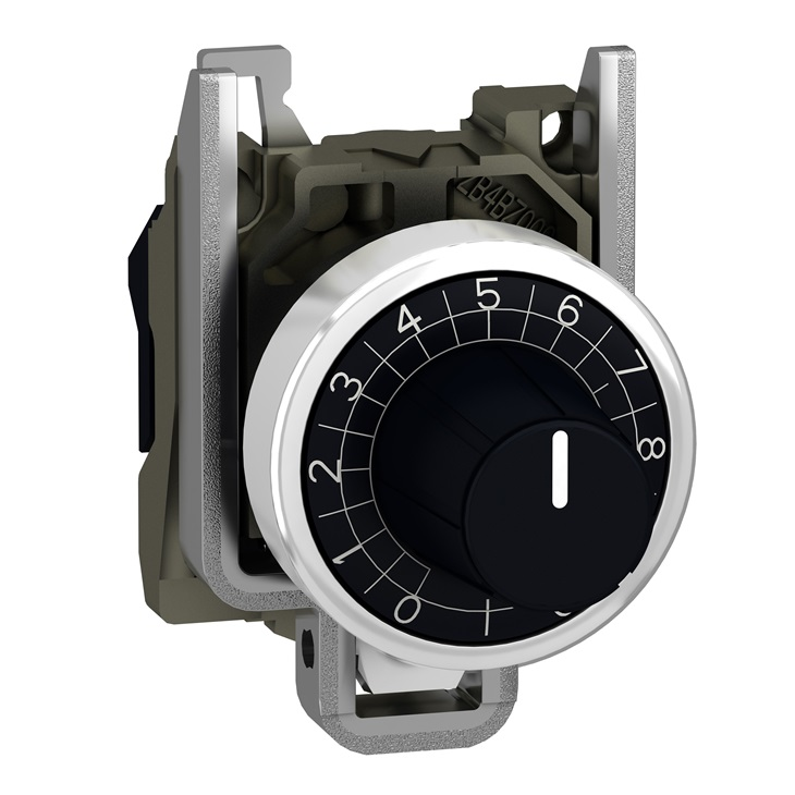 Attuatore pulsante tipo Potenziometro ZB4BD912 Schneider Electric serie Harmony XB4, Nero