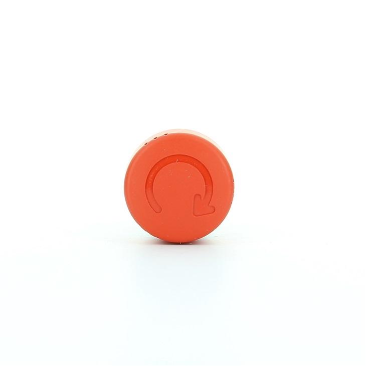 Testa pulsante di arresto con sblocco a rotazione a fungo diametro 30mm rossa