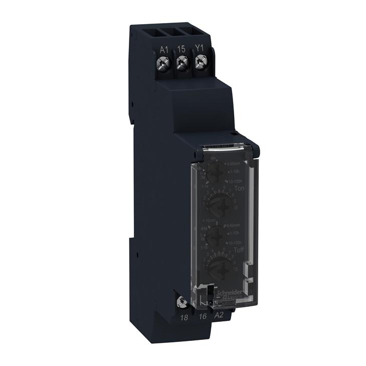 Temporizzatore lampeggiatore 24-240V AC 100H 1 NC/NO