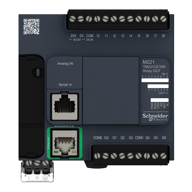 PLC M221-16IO Relè ETH. COMP