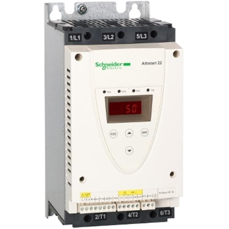 Soft-starter ATS22, controllo 220V, potenza 230V(7,5kW)/400-440V(15kW).
