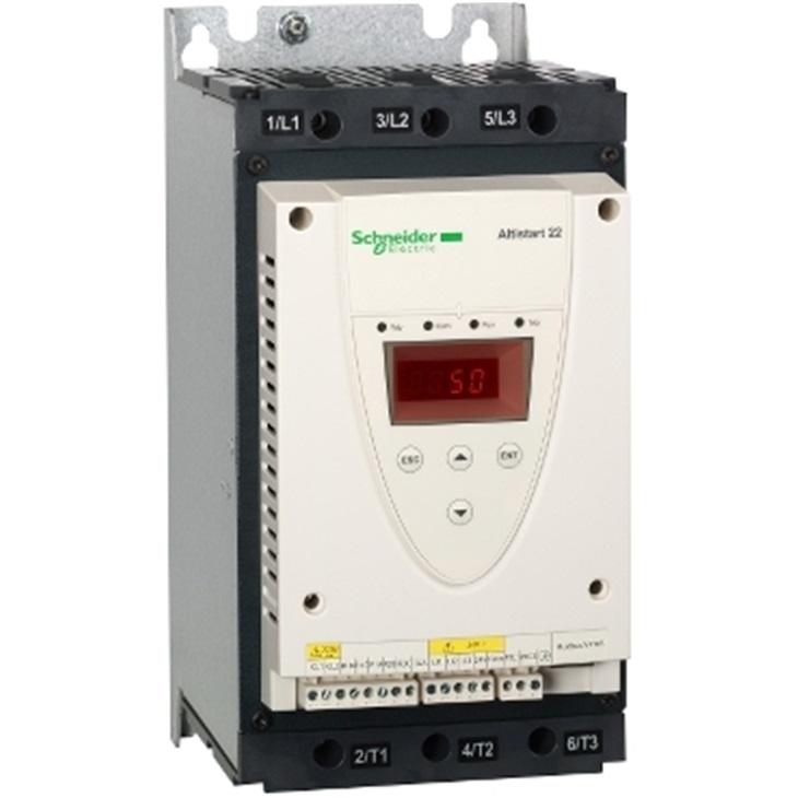 Avviatore soft-start Schneider Electric ATS22D62Q serie ATS22, trifase, 440 V, 62 A, 30 kW, IP20
