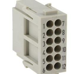 Connettore di potenza per impieghi pesanti maschio serie Han-Modular 12 vie