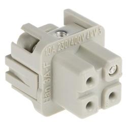 Connettore di potenza Harting 09200032711 per pannello femmina 3 Pin Diritta 10A