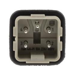 Kit connettore alimentazione Harting 09200042611 per pannello maschio 4 Pin Diritta 10A