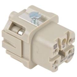 Connettore di potenza Harting 09200042711 per pannello femmina 4 Pin Diritta 10A