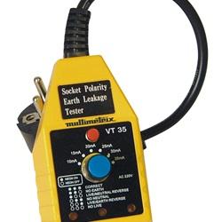 Tester per prese e interruttori differenziali 10 mA e 30 mA VT35