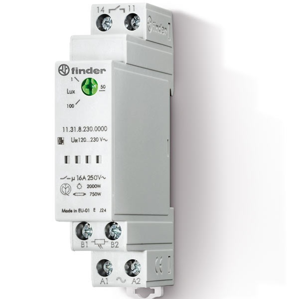 Relè crepuscolare modulare AC (50/60Hz) 120...230 V