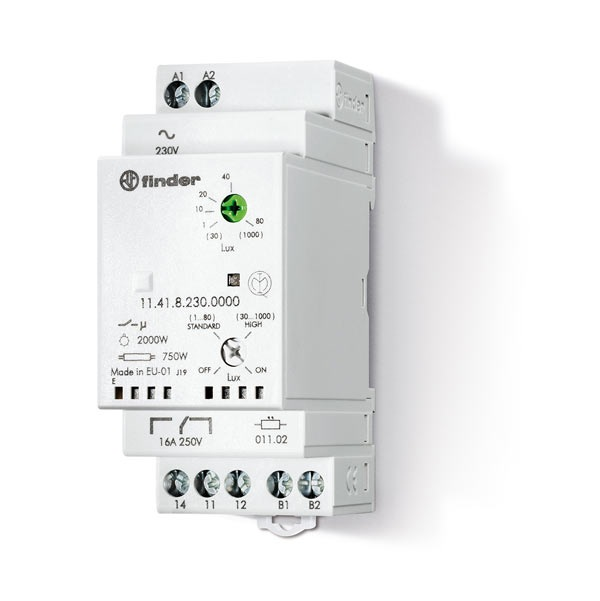 Relè crepuscolare modulare AC (50/60Hz) 230 V