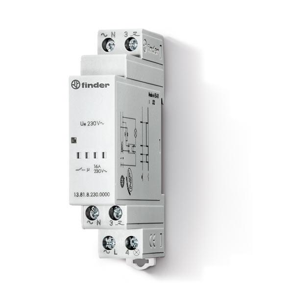 Relè ad impulsi elettronico Finder Serie 13 AC (50/60Hz) 230 V