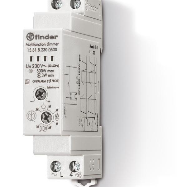 Dimmer Pannello 500W Finder Serie 15 230V