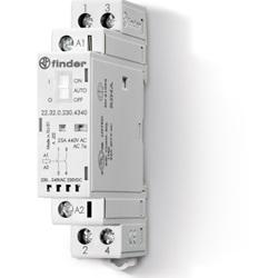 Contattore modulare 12 V AgSnO2