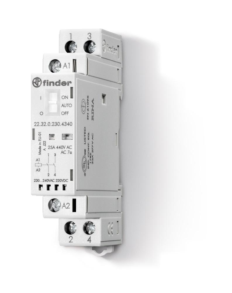 Contattore modulare 24 V AgSnO2