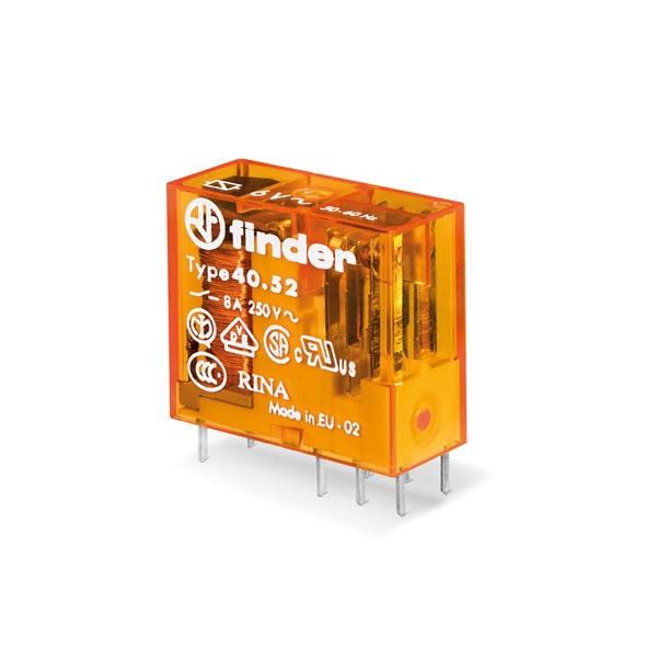 Mini relè per circuito stampato 2 contatti, 8 A DC 12 V AgNi Standard