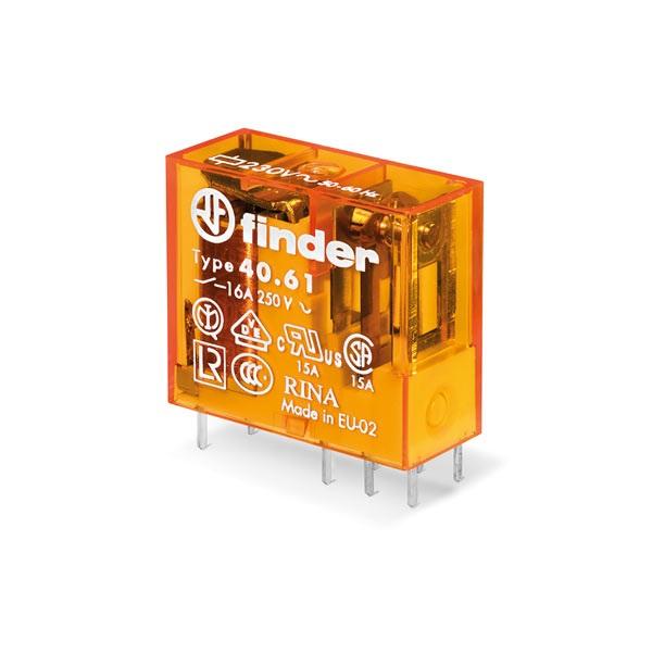 Mini relè per circuito stampato 1 contatto, 16 A AC (50/60Hz) 230 V AgCdO Standard