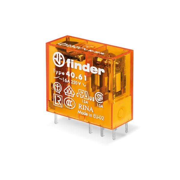 Mini relè per circuito stampato 1 contatto, 16 A DC 12 V AgCdO Standard