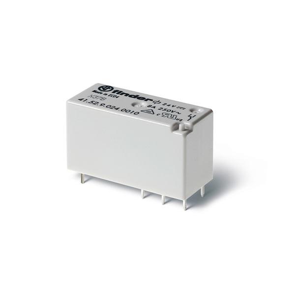 Mini relè per circuito stampato 2 contatti, 8 A DC 24 V AgNi A prova di flussante (RT II)