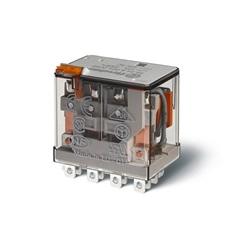 Relè di potenza AC (50/60Hz) 24 V AgNi Pulsante di prova + indicatore meccanico