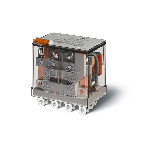 Relè di potenza DC 24 V Pulsante di prova + indicatore meccanico Standard
