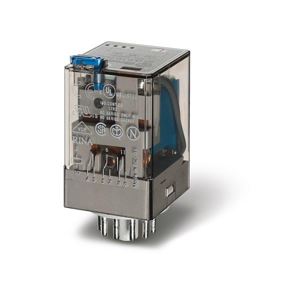 Relè industriale AC (50/60Hz) 110 V AgNi Pulsante di prova + indicatore meccanico