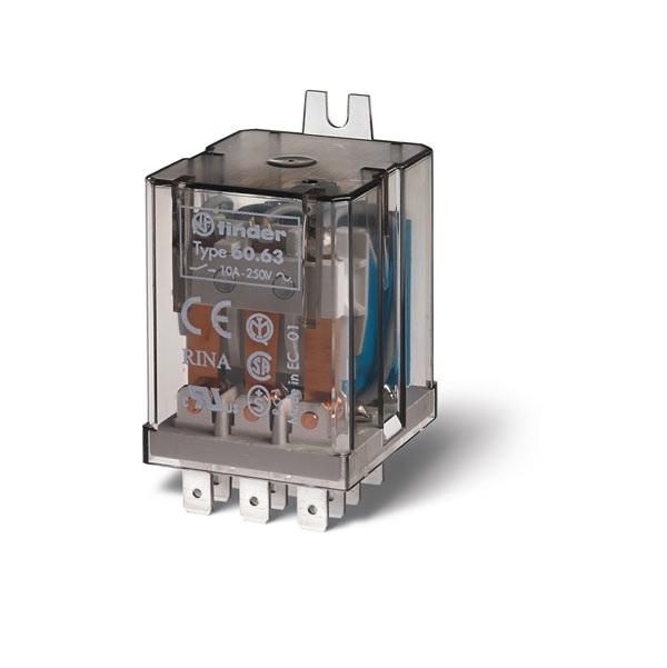 Relè industriale AC (50/60Hz) 230 V AgNi